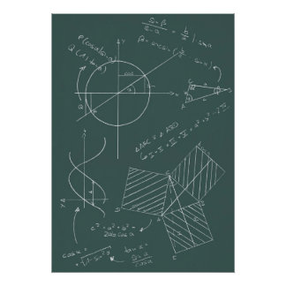Math blackboard poster