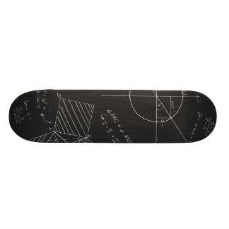 Math blackboard skate board decks