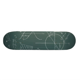 Math blackboard skate board