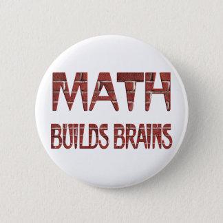 Math Builds Brains 2 Inch Round Button