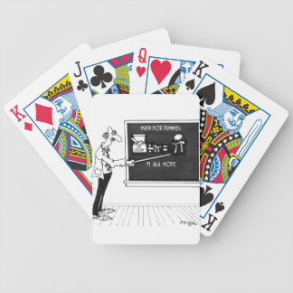 Math Cartoon 5850 Bicycle Playing Cards