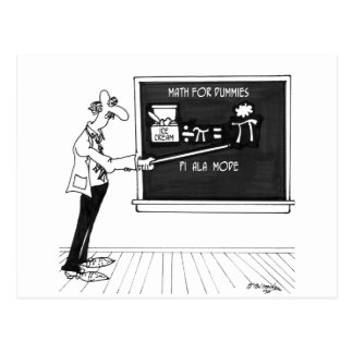 Math Cartoon 5850 Postcard