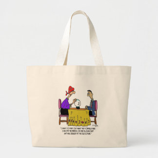 Math Cartoon 6487 Large Tote Bag