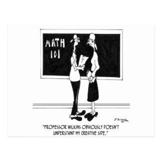 Math Cartoon 6838 Postcard
