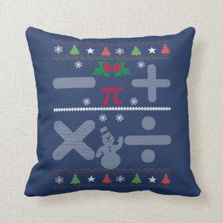 Math Christmas Throw Pillow