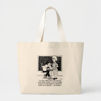 Math Class Cartoon 9478 Large Tote Bag