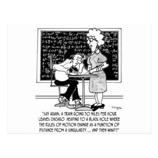 Math Class Cartoon 9478 Postcard
