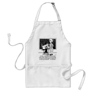 Math Class Cartoon 9478 Standard Apron