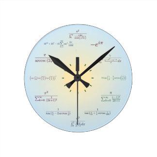 Math clock (light blue)