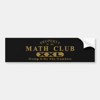 Math Club Bumper Stickers