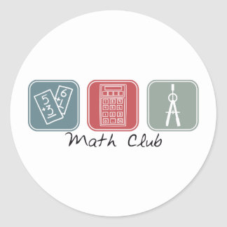 Math Club (Squares) Classic Round Sticker