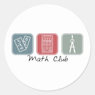 Math Club (Squares) Round Sticker