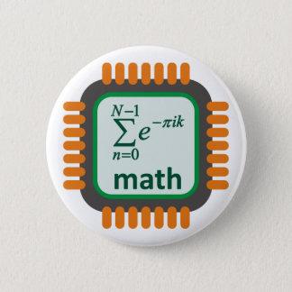 Math Computer Chip 2 Inch Round Button