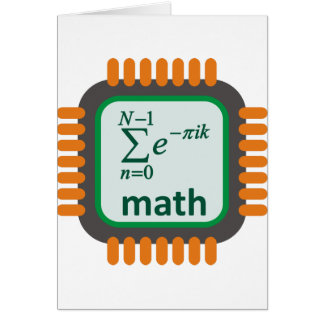 Math Computer Chip Card