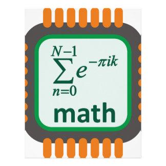 Math Computer Chip Letterhead