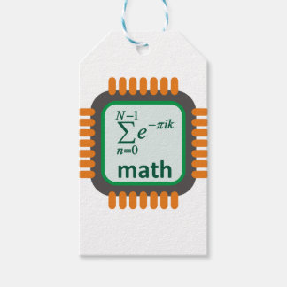Math Computer Chip Pack Of Gift Tags