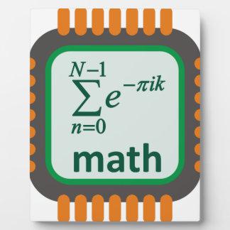 Math Computer Chip Plaque