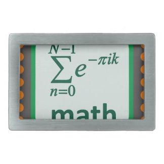Math Computer Chip Rectangular Belt Buckles