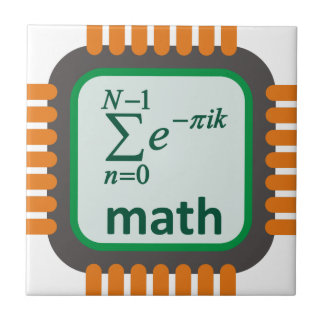 Math Computer Chip Tile