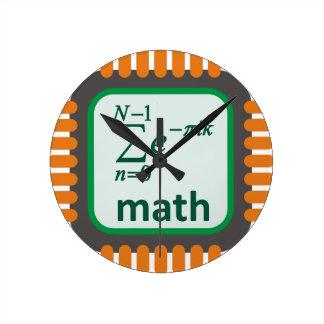 Math Computer Chip Wall Clocks