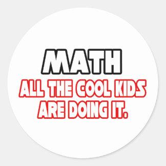 Math...Cool Kids Classic Round Sticker
