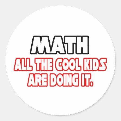 Math...Cool Kids Sticker