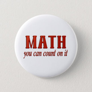 Math Count On It 2 Inch Round Button