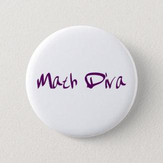 Math Diva 2 Inch Round Button