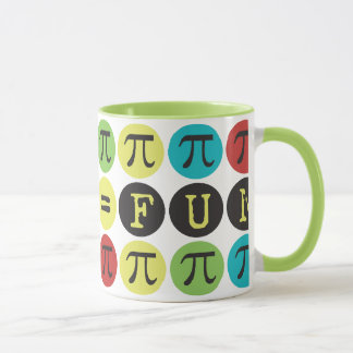 Math equals Fun - Colorful Mod Pi  - Funny Pi Gift Mug
