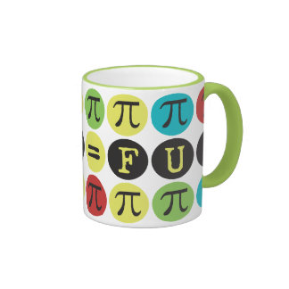 Math equals Fun - Colorful Mod Pi  - Funny Pi Gift Coffee Mugs
