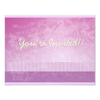 Math Equation Pink & Purple Blackboard Invitation