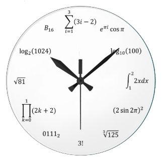 Math Equations and Notations Wall Clocks