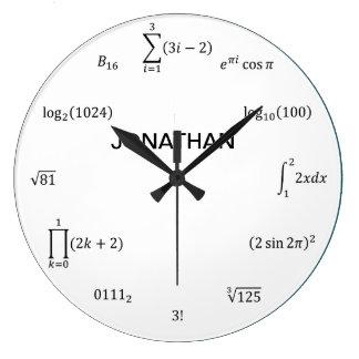 Math Equations and Notations Wallclock