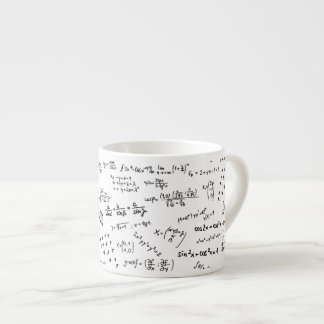 Math Formulas And Numbers Espresso Cup