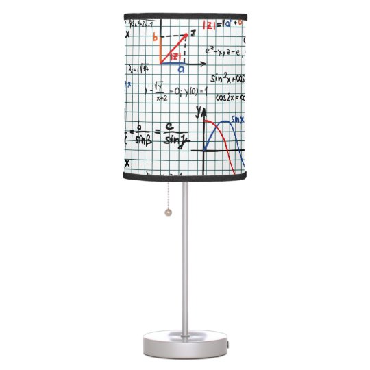 Math Formulas Numbers table lamp