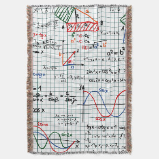 Math Formulas Numbers Throw Blanket