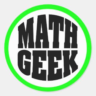 Math Geek Classic Round Sticker