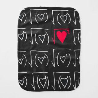 Math geek romance: find real love burp cloth