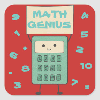 Math Genius Square Sticker