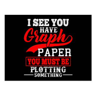 Math Graph paper plotting something Pun Teacher Postcard