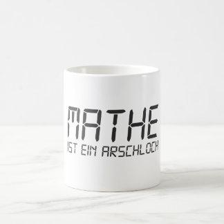 Math is an asshole coffee mug
