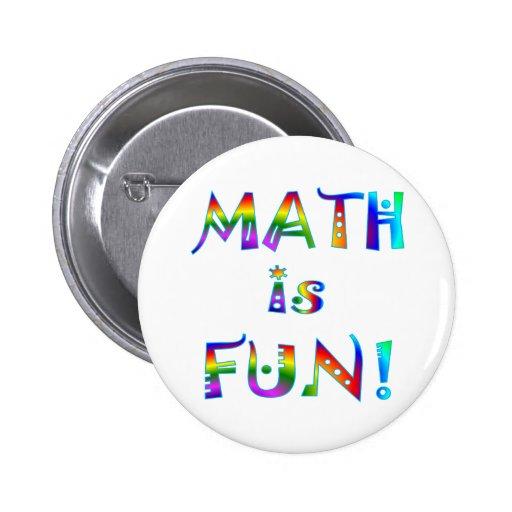 Math is Fun 2 Inch Round Button