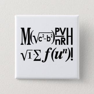Math is Fun! 2 Inch Square Button