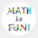 Math is Fun Round Sticker