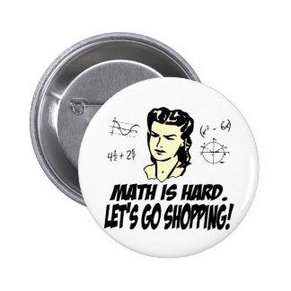 Math is hard buttons