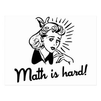 Math is Hard Postcard