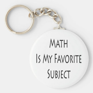 Math Is My Favorite Subject Keychain