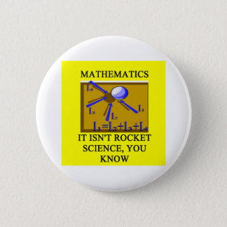 math isn't rocket science 2 inch round button