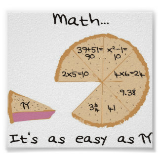 Math it's as easy as... poster
