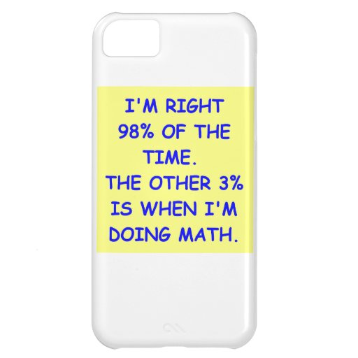 MATH JOKE iPhone 5C CASES